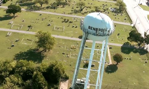 Benbrook Water Tower Aerial View